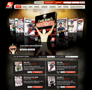 2K Sports game page