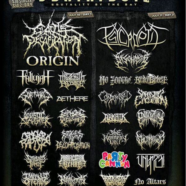 Bay Area Deathfest 2 poster