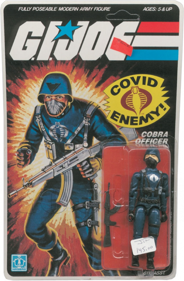 Vintage G.I. Joe Cobra Officer action figure mint in box
