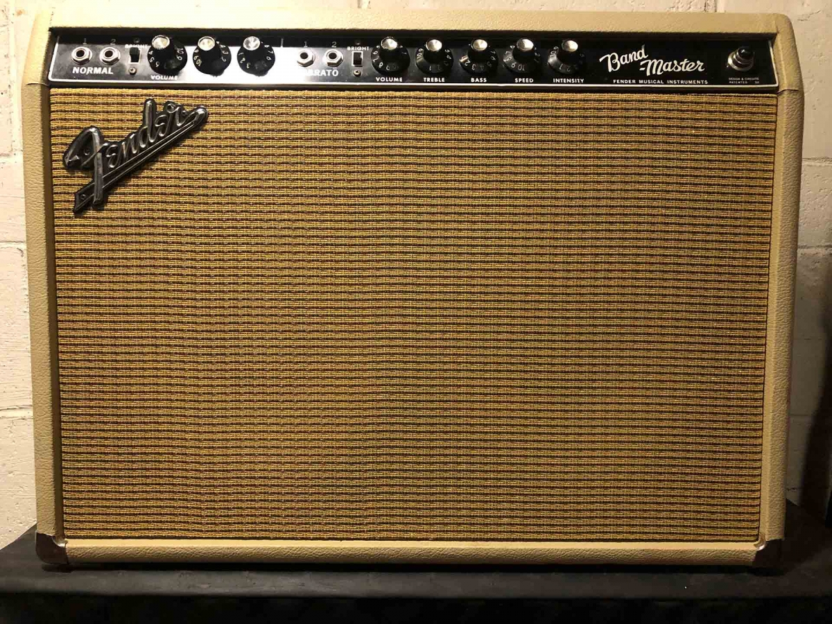 1963 Fender Bandmaster in a 2x10 combo cabinet
