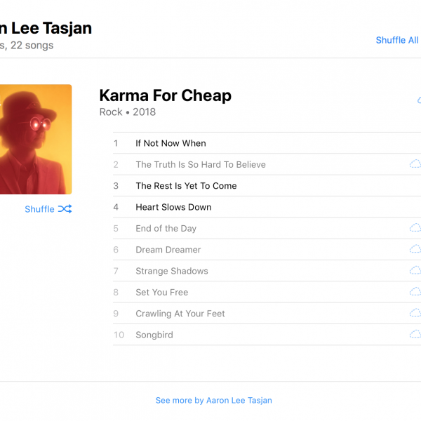 Aaron Lee Tasjan's Karma for Cheap in Apple Music