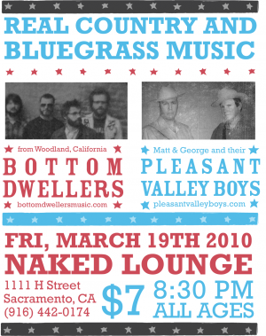 Bottom Dwellers/Pleasant Valley Boys Poster