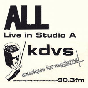 ALL Live in Studio A Cover