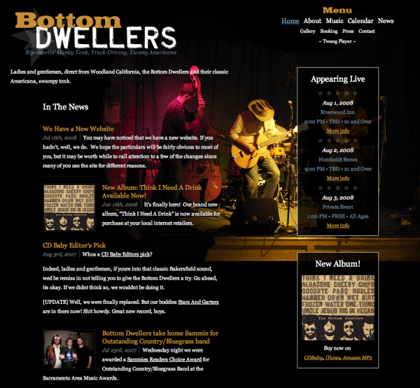 Bottom Dwellers home page