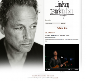 Lindsey Buckingham home page