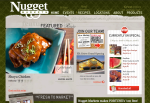 Nugget Market home page