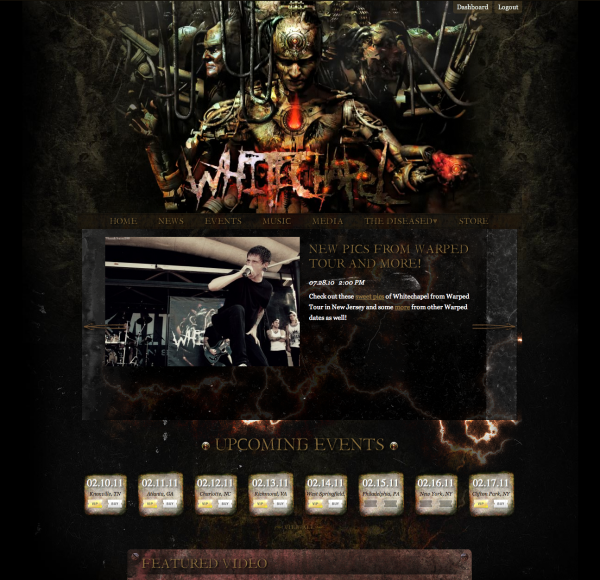 Whitechapel home page
